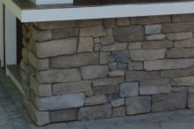Bar Front with Drystack Stone Veneer