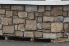 Bar Front with Cut Cobble Stone Veneer