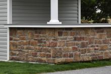 Heritage Cobble Cut Stone Veneer on Bar Front