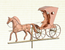 Copper Horse & Buggy Weathervane