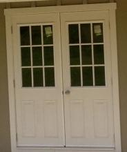 Double House Door with 9 Lite & Garage Options u0026 Colors | Homestead Structures