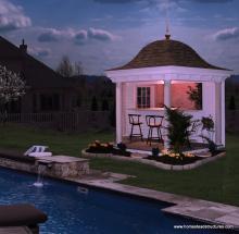 10' Homestead Belvedere Pool Side (Vinyl Siding)