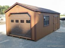 12' x 24' Keystone A Frame Garage (D-Temp Siding)