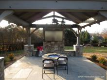 12x14 Timber Frame Pavilion interior Bryn Mawr, PA