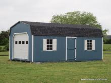 12' x 24' Keystone Dutch Barn Garage (D-Temp Siding)