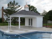 14' x 20' Avalon Pool House (vinyl siding)