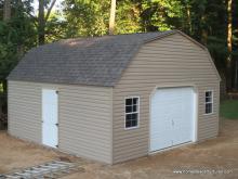 20' x 20' Keystone Dutch Garage w/ special roof (Vinyl Siding)