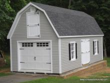 14' x 32' Liberty Dutch Barn Garage (Vinyl Siding)