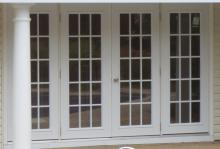 10' Quad House Door with 15 Lite Windows