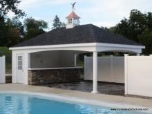 14' x 24' Avalon Pool House (with vinyl siding)