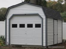 10 x 14 Laurel Dutch Barn Garage (Vinyl Siding)