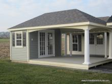 12 x 20 Avalon Pool House (vinyl siding)