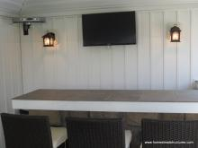 Avalon Pool House Wall with TV