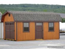 12' x 18' Classic Dutch Barn Shed (D-temp siding)