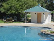 12' x 18' Avalon Pool House (vinyl siding)