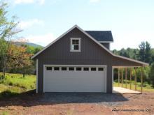 20' x 30' 2 Car 2 Story garage with balcony - Prattsville NY