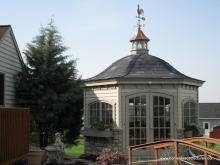 12' Homestead Garden Belle (Cypress Clapboard Siding w/ Stone)