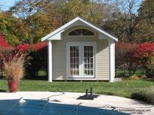 12 x 11 Classic A Frame Poolhouse (vinyl siding)