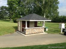 12 x 12 Siesta Poolside Bar with 4' Roof Overhang (duratemp siding)