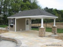 12' x 22' Avalon Pool House (vinyl siding)