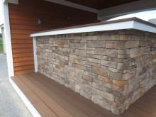 Bar Front with Ledgestone Stone Veneer