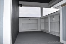 New Siesta bar shelves - gives more storage space below bar
