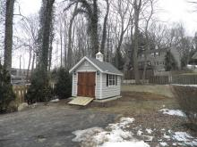 8' x 12' Classic A-Frame Shed (Vinyl Beaded Siding)