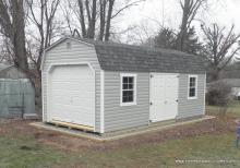 12' x 24' Keystone Dutch Barn Garage (Vinyl Siding)