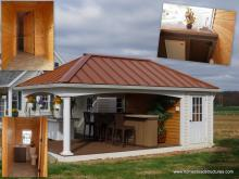 12' x 20' Avalon Pool House (vinyl & cypress siding)
