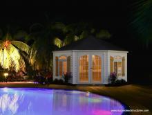 Pentacle Pool House (vinyl siding)