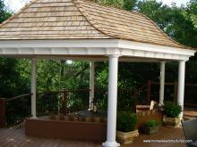 16' x 30' Homestead Belvedere Pavilion (built on a deck)