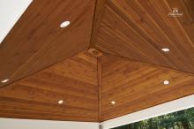 Recessed lights in pool house