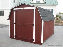 8' x 10' Keystone Mini Barn Shed (D-Temp Siding)