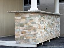 Natural Ledge Stone Bar Facade on Siesta