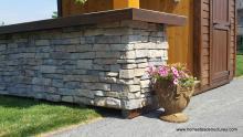 10' x 12' Timberframe Siesta Pool House with stone facade