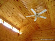 Heritage interior ceiling with pinewood