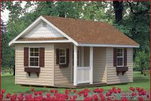 12' x 16' Classic A-Frame Shed with Porch (Vinyl Siding)