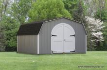 12' x 16' Keystone Mini Barn Shed (D-Temp siding)