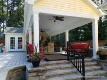 12x20 Custom Pool House with 12x29 Pavilion