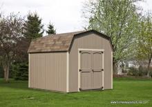 10' x 12' Keystone Dutch Barn Shed (D-Temp siding)