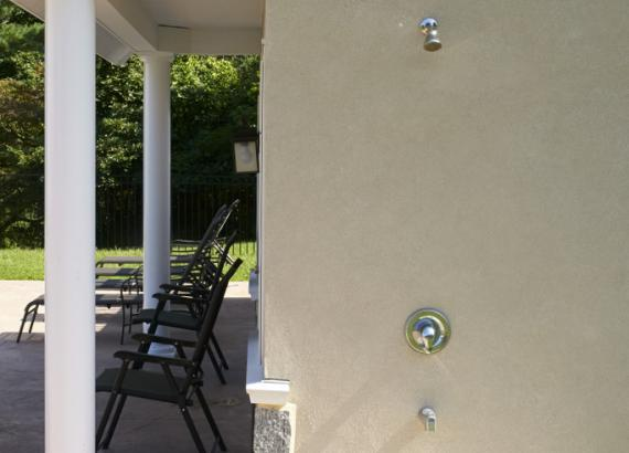 Heritage Pool House Outdoor Shower