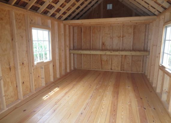 Interior of a 1-car garage