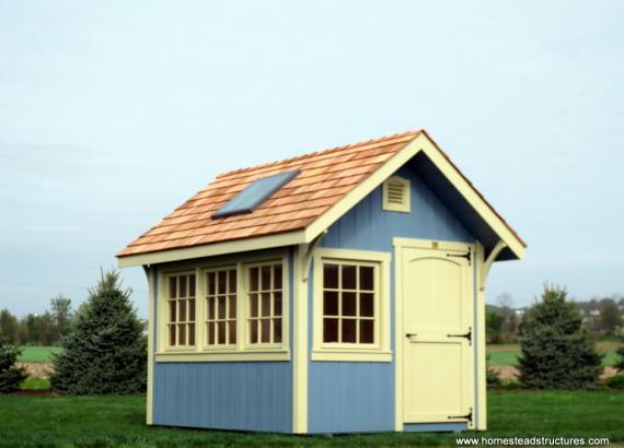 8' x 10' Premier A-Frame Garden Shed (Cedar Shakes)