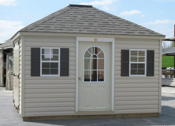 10' x 12; Keystone Hip Roof Shed (vinyl siding)