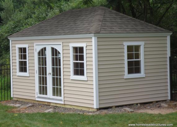 10' x 14' Laurel Hip Roof Shed (vinyl siding)