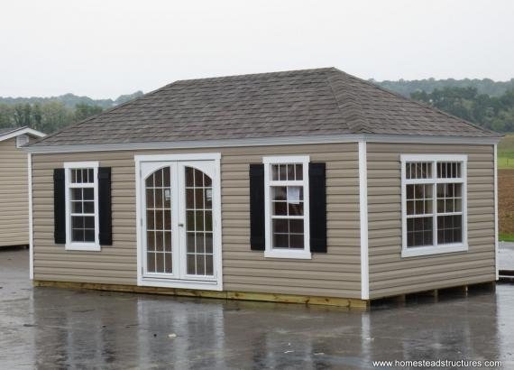 10' x 20' Laurel Hip Roof Shed (vinyl siding)
