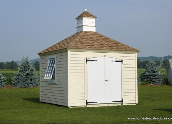 10' x 10' Garden Series Hip Roof Shed (LP Lap Siding)