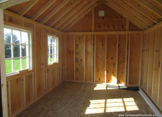 Interior of 10x12 Premier Garden Shed