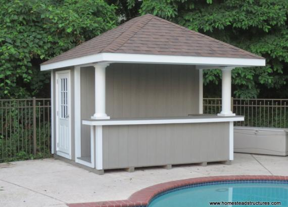 10' x 12' Siesta Poolside Bar (D-Temp siding)