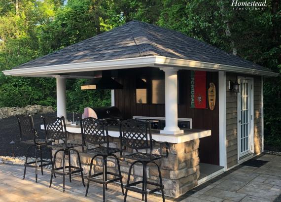 10' x 14' Siesta Backyard Bar in Andover, NJ